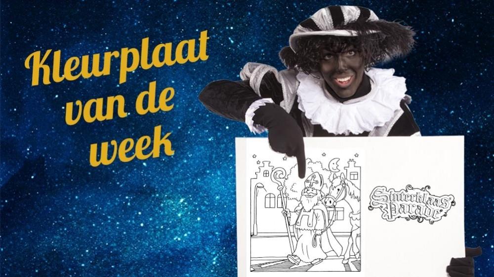 Nieuwe Kleurplaten Sinterklaas.Kleurplaat Van De Week Blog Sinterklaasparade